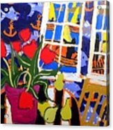 Tulips, Pears, Sailboats Acrylic Print