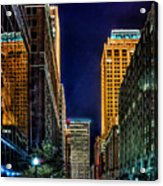 Tulsa Nightlife Acrylic Print