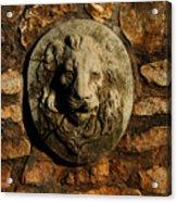 Tulsa Rose Garden Lion Fountain #1 Acrylic Print