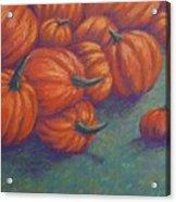 Tumbled Pumpkins Acrylic Print