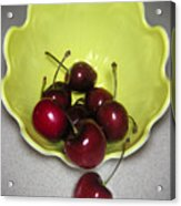 Tumbling Cherries Acrylic Print