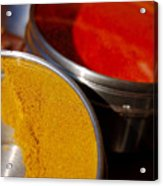 Tumeric And Cayanne Pepper Acrylic Print