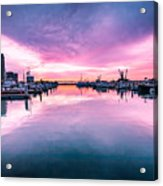 Tuna Harbor Sunrise Acrylic Print
