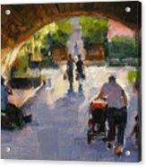 Tunnel In Central Park Acrylic Print