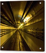 Tunnel In Schoenenbourg Fort, France Acrylic Print
