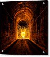 Tunnel Sparks Acrylic Print