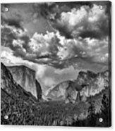 Tunnel View In Black And White Acrylic Print