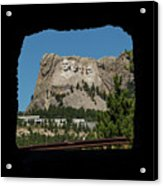 Tunnel View Mt Rushmore 2 A Acrylic Print