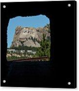 Tunnel View Mt Rushmore 2 B Acrylic Print