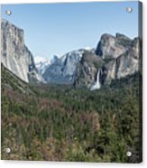 Tunnel View Of Yosemite During Spring Acrylic Print