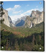Tunnel View Shadow Acrylic Print