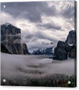 Tunnel View Storm Clouds Acrylic Print