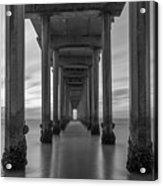 Tunnel Vision Bw  Acrylic Print