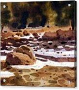 Tuolumne River Freeze Acrylic Print