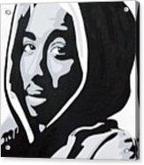 Tupac Acrylic Print by Michael Ringwalt