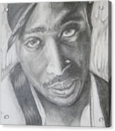 Tupac Shakur II Acrylic Print by Stephen Sookoo
