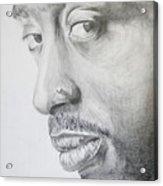 Tupac Shakur Acrylic Print by Stephen Sookoo