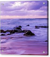 Turbulent Daybreak Seascape Acrylic Print