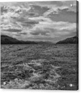 Turbulent Loch Ness In Monochrome 2 Acrylic Print