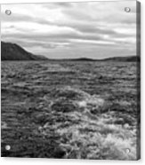 Turbulent Loch Ness In Monochrome Acrylic Print