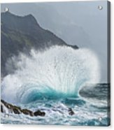 Turbulent Shore Acrylic Print