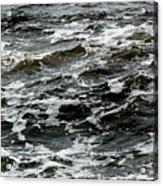 Turbulent Water Near The Shore Acrylic Print