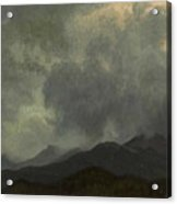 Turbulent_clouds_white_mountains Acrylic Print