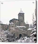 Tures Castle In The Snow Acrylic Print