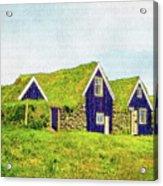 Turf Huts In Skaftafell Acrylic Print