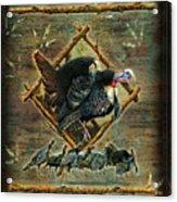 Turkey Lodge Acrylic Print by JQ Licensing