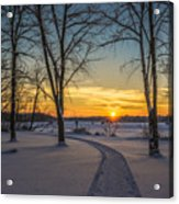 Turn Left At The Sunset Acrylic Print
