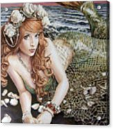 Turn Loose The Mermaid Acrylic Print
