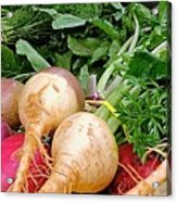 Turnips And Carrots Acrylic Print