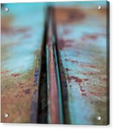 Turquoise And Rust Abstract Acrylic Print