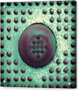 Green And Violet Dots In Cube Acrylic Print
