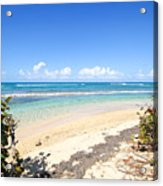 Turquoise Beach Hideaway In Vieques Acrylic Print