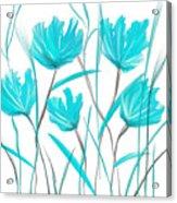 Turquoise Bloom Acrylic Print