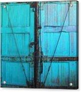 Turquoise Doors Acrylic Print
