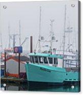 Turquoise Fishing Boat Acrylic Print