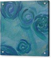 Turquoise Flora Acrylic Print