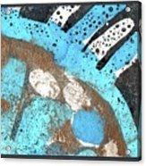 Turquoise Gold Pond 2 Acrylic Print