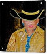 Turquoise Lady 3 Acrylic Print