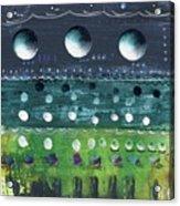 Turquoise Moons Acrylic Print