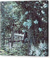 Turquoise Muted Garden Respite Acrylic Print