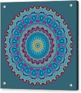 Turquoise Necklace Mandala Acrylic Print