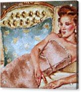 Turquoise Pillow Acrylic Print