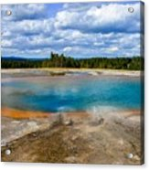 Turquoise Pool, Yellowstone Acrylic Print