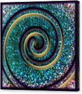 Turquoise Spiral Acrylic Print