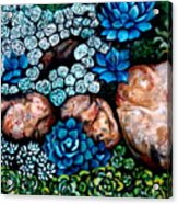 Turquoise Stone Acrylic Print