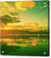 Turquoise Sunrise Acrylic Print